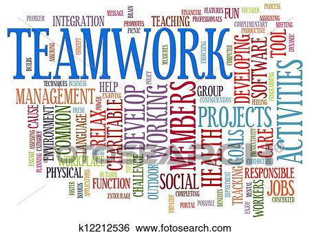 stock illustration of teamwork word tags k12212536 search clip art