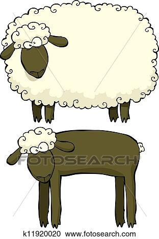 Two sheep Clipart