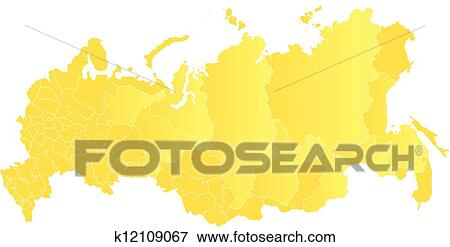 Vector map of the Russian Federation Clip Art k12109067