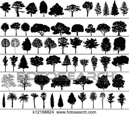Vector Trees Clipart K12198824 Fotosearch