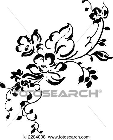 clip art of vintage floral design k12284008 search clipart Floral Design Stickers clip art vintage floral design fotosearch search clipart illustration posters drawings