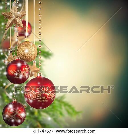 Bild weihnachtsmotive mit glas kugeln und frei raum f r text k11747577 suche - Glas mit kugeln dekorieren ...