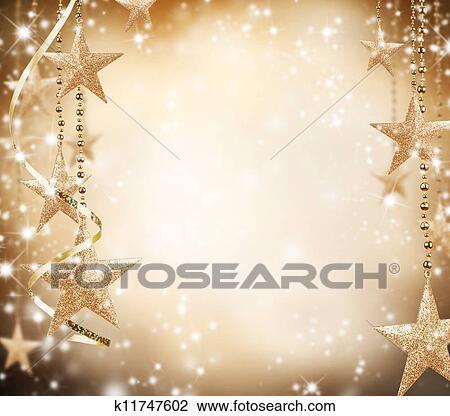 Weihnachtsmotive Zum Kopieren.Weihnachtsmotive Mit Goldenes Sternen Und Frei Raum Für Text Stock Bild