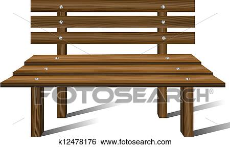 Super Wooden Bench Clip Art K12478176 Fotosearch Pabps2019 Chair Design Images Pabps2019Com
