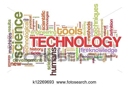 drawing of word tags of technology k12269693 search clipart