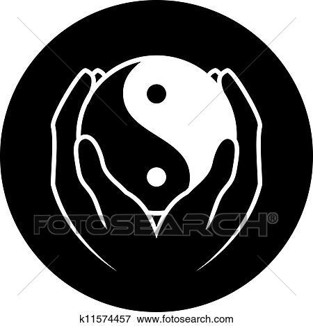 Yin Yang Symbol Clip Art K11574457