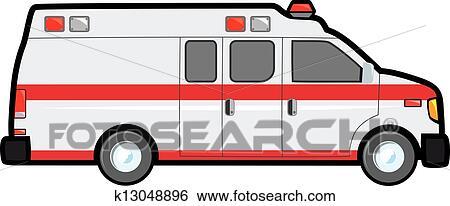 إغتصاب جناح سيارة إسعاف Clip Art K13048896 Fotosearch