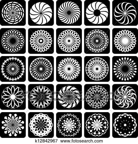التصميم الزخرفي Elements Clip Art K12842967 Fotosearch