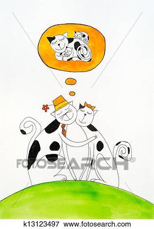 حلم بسبب زا ت ح ا إمرأة رسم الطفل لوحة التلوين بالماء عن