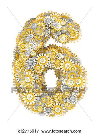 رقم 6, من, camomile, الزهرات. معرض الأشكال   k12775917   Fotosearch