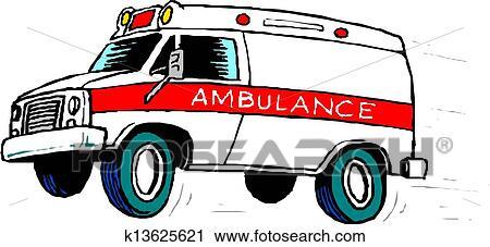 سيارة إسعاف سيارة Clipart K13625621 Fotosearch