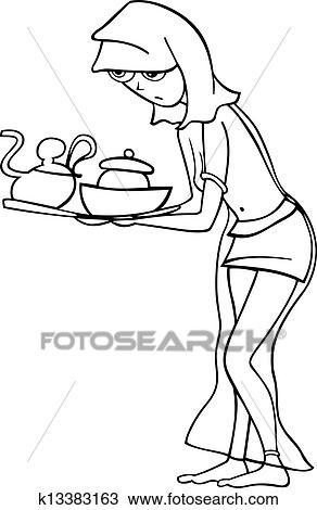 お手伝い あるいは 奴隷 女 漫画 イラスト クリップアート 切り張り イラスト 絵画 集 K13383163 Fotosearch