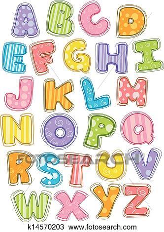 かわいい アルファベット 資本 手紙 クリップアート切り張り