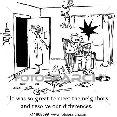 それ あった そう 偉人 会うため 隣人 イラスト K11868599