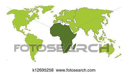 アフリカ 世界地図 クリップアート K12695258 Fotosearch