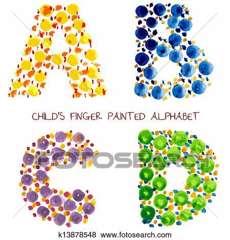 カラフルである 面白い ペンキ アルファベット クリップアート