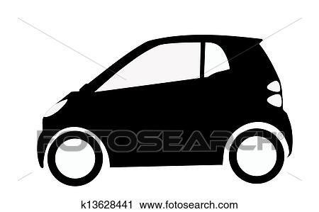 スマートな車 シルエット クリップアート K13628441 Fotosearch