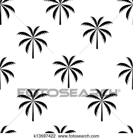 ヤシの木 Seamless パターン ベクトル イラスト クリップアート
