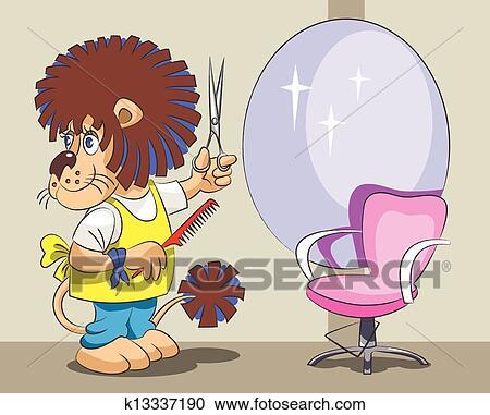 ライオン ある 美容師 そして スタイリスト クリップアート
