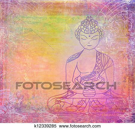 中国語 伝統的である 芸術的 仏教 パターン イラスト K12339285