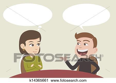 会話 クリップアート切り張りイラスト絵画集 K14365661