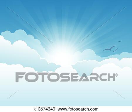 天国 空 クリップアート K13574349 Fotosearch