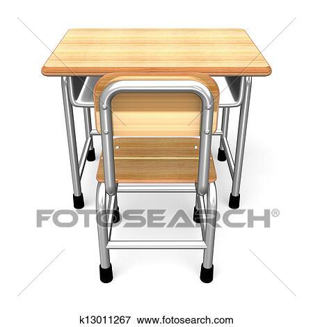 学校机 ビューを支持しなさい イラスト K13011267 Fotosearch
