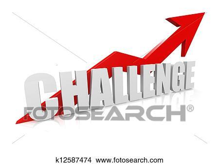 挑戦 で 上向きに 赤い矢印 イラスト K12587474 Fotosearch
