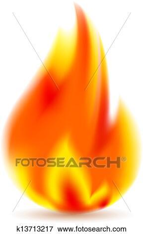 火 明るい 炎 白 背景 クリップアート K13713217 Fotosearch