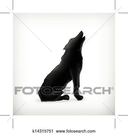 狼 シルエット ベクトル クリップアート 切り張り イラスト 絵画 集 K Fotosearch