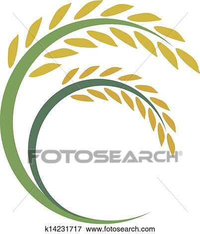 米 デザイン 白 背景 クリップアート K14231717 Fotosearch