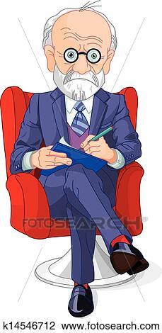 精神科医 クリップアート切り張りイラスト絵画集 K14546712