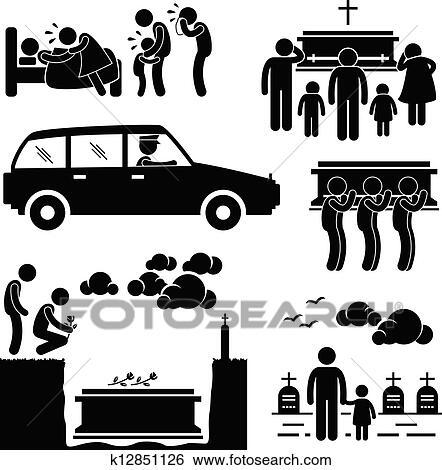 葬式, 埋葬式, pictogram クリップアート   k12851126   Fotosearch