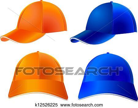 野球帽 ベクトル クリップアート切り張りイラスト絵画集