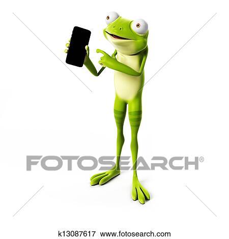 面白い カエル イラスト K13087617 Fotosearch