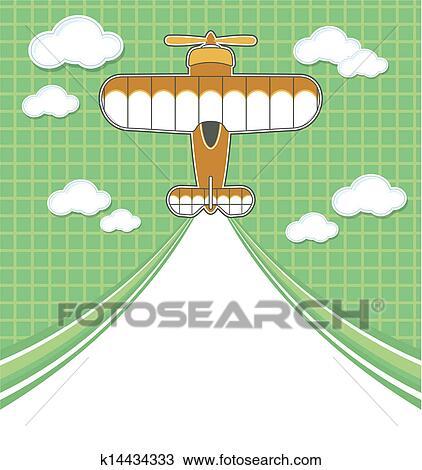 飛行機 漫画 ブランク 飛行機雲 クリップアート切り張りイラスト