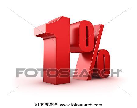 Bilderesultater for one percent illustration