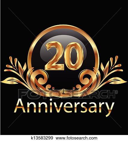 födelsedag 20 år Clipart   20 år, årsdag, födelsedag k13583299   Sök Clipart  födelsedag 20 år