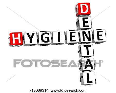 3d Hygiène Dentaire Mots Croisés Banque D Illustrations
