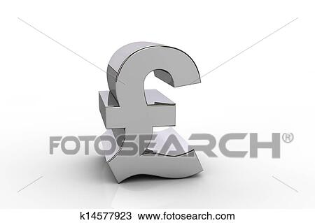 3d Livre Sterling Symbole Monetaire Dessin