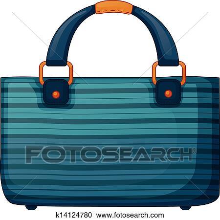 Clipart A Fashionable Handbag Fotosearch Search Clip Art Illustration Murals Drawings