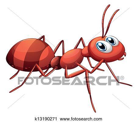 Clipart a grand fourmi rouge k13190271 recherchez des clip arts des illustrations des - Fourmi rouge et tamanoir ...