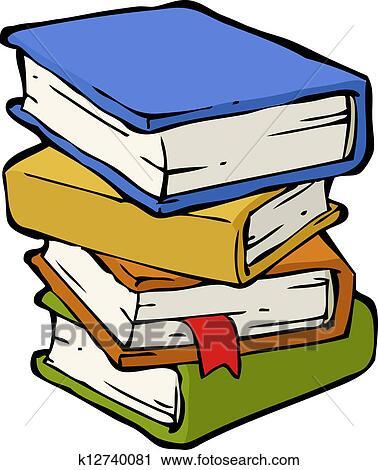 A Pile Livres Clipart