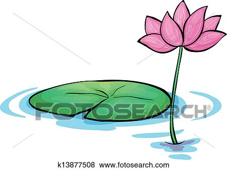 clip art of a waterlily flower k13877508 search clipart rh fotosearch com water lily leaf clipart water lily flower clipart