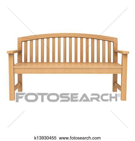 Phenomenal A Wooden Bench On White Stock Illustration K13930455 Pdpeps Interior Chair Design Pdpepsorg