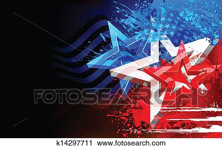 Abstract American Flag Background Clipart