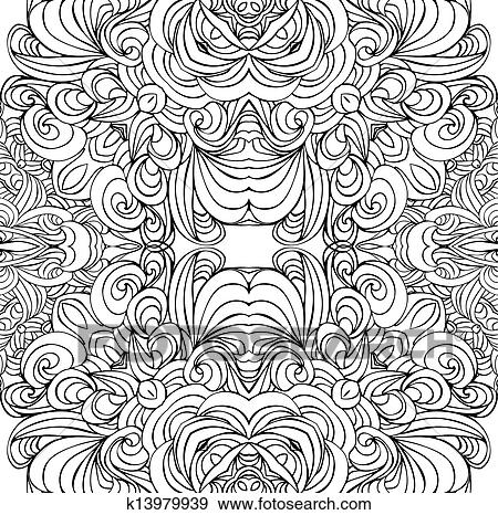 Clip Art Abstract Black And White Pattern Fotosearch Search Clipart Ilration Posters