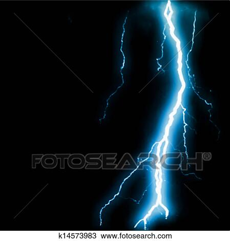 Abstract Blue Lightning Flash Background Vector Clipart