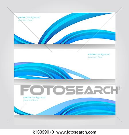 Abstract Header Blue Wave Vector Clipart K13339070