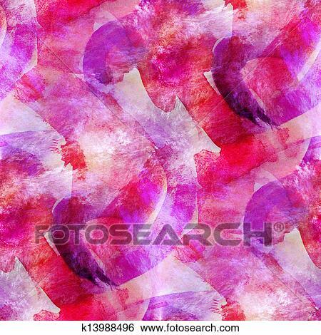 Abstract Pink Purple Seamless Wallpaper Watercolor Art Hand
